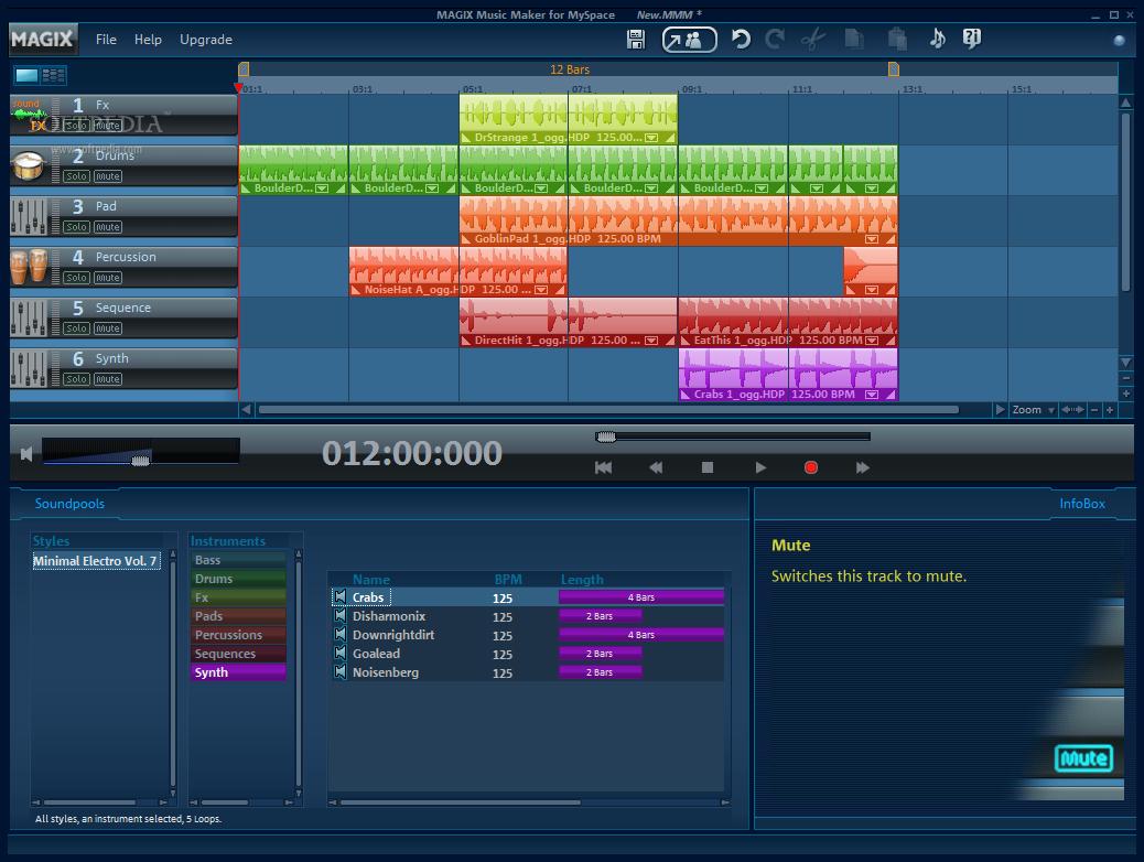 Программа по созданию электронной музыки от Xara Дидактор