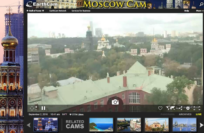 онлайн трансляции с веб камер москвы
