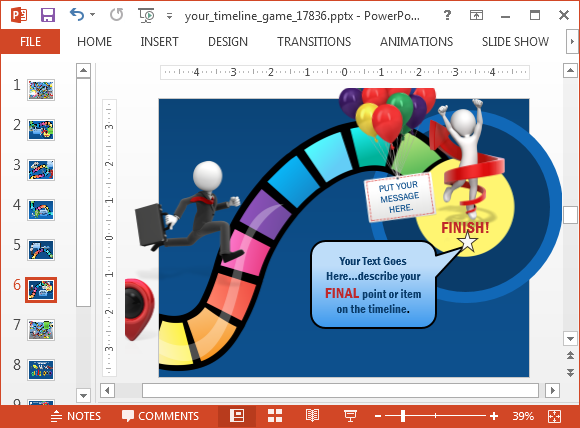 Board-game-timeline-template-for-PowerPoint